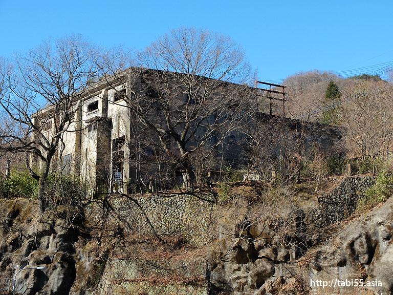 足尾銅山観光から見えた建造物