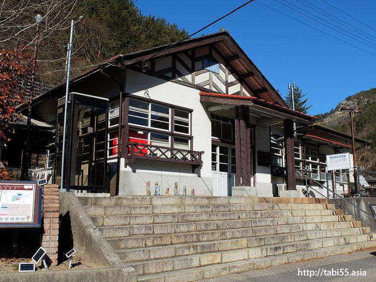わたらせ渓谷鐵道 通洞駅の駅舎。