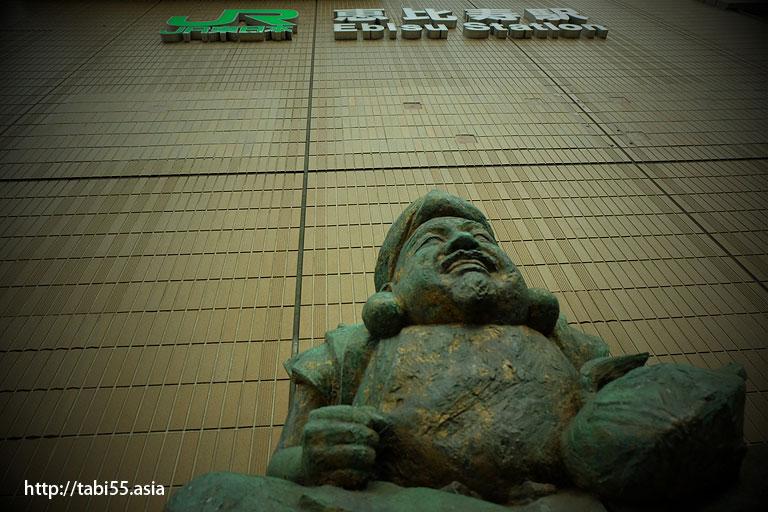 恵比寿駅西口えびす像/Ebisu image at Ebisu Station West