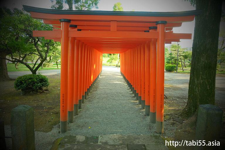 水前寺成趣園の中(熊本県熊本市)