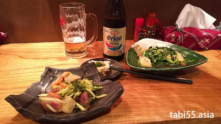 旭橋駅直近!のお店で「沖縄料理」を食す