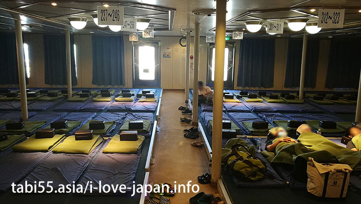 Second class cabin of Marix Line@Travel by ferry on the Amami Islands (archipelago)【7 nights 8 days】 model course(Kagoshima)