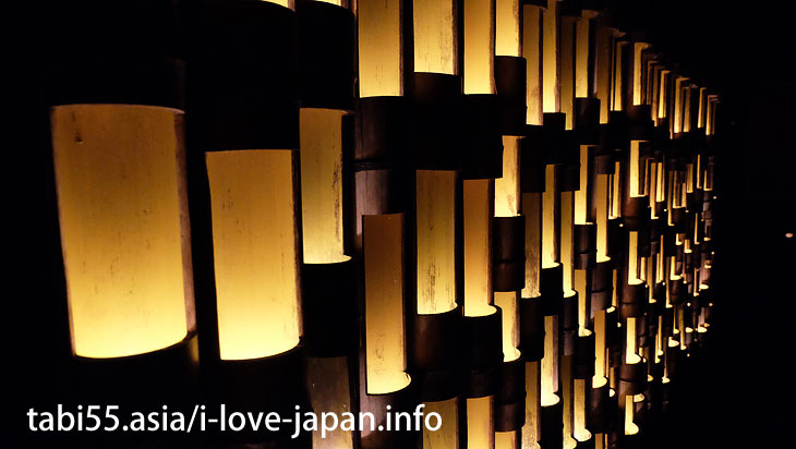 A group of bamboo lights