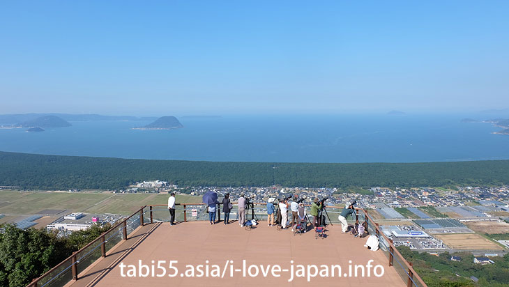 View from the Mt.Kagami-yama Observatory