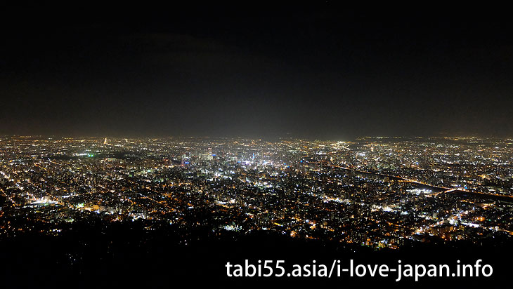 7. Night view in Sapporo! Mt. Moiwa Ropeway