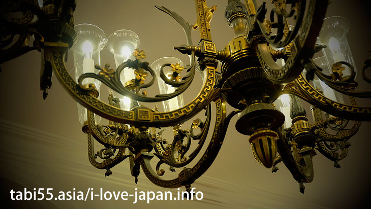 [National Designated Important Cultural Property] Houhei-Kan. Must see a plaster painting on the ceiling